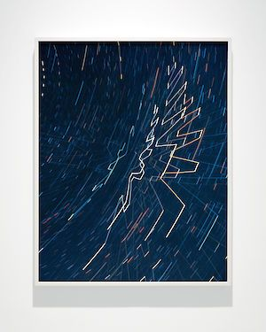 »Starlight Drawing (Track)« 2017 . Lightjetprint auf Dibond. 101.6 cm x 81.28cm