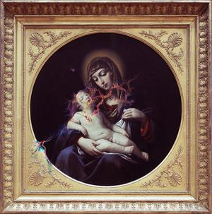 »Francesco Gessi - la vierge a l'enfant« 2016, archival print on wood under resin, 152 x 150 cm