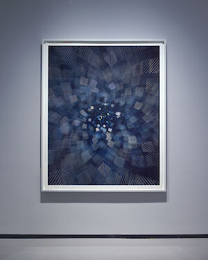 James Nizam . »Drawing with Starlight (Square)« . 2020 . archival pigment print on Baryta Photo Rag . 157 x 127 cm