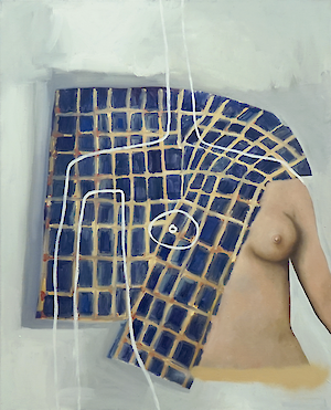 Sophie Ullrich »She_rlock« 2020. Oil on canvas. 90 x 70 cm